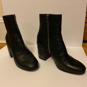 Dolce Vita Black Studded Booties